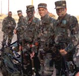 John (2nd from right) with Best Man Mark on far right during Reserve maneuvers in CA