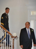 John and Best Man, Mark, in procession to the Minister