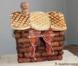 sausage log cabin