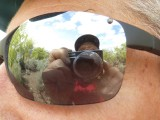 Dave in Reflection in Richard's Glasses