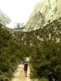 Hiking Toward the Ashram (Stone House)