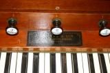 Trustam Harmonium 1864 - Stops and Makers Label