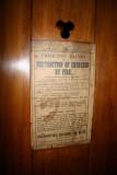 Trustam Organ 1889 - Notice of Fire Hazard from mid 1800s