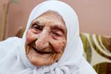 Old woman in refugee camp - Jerusalem