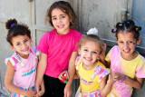 Girls in refugee camp - Jerusalem