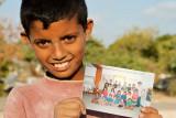 Gaza boy and settler schoolchildren - Gaza