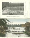 Two Views - Old Mill Dam - Gilmanton Iron Works, NH
