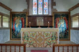 Altar and tapestries