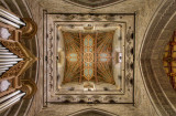Cathedral ceiling beneath tower