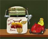 Pot and car