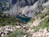 Emerald Lake; viewpoint from Flattop Mountain trail