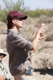Dr. Christa Slaton, Dean of Arts and Sciences, visiting the field school