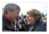 Maurizio Landini e Susanna Camusso a Piazza del Popolo