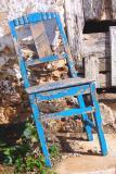 Left blue chair