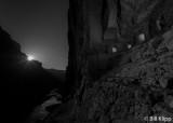 Moon Rise at Nankoweap's ancient Puebloan granaries  2