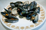 Mmm...fresh mussels and clams from P.E.I.