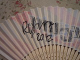 Kazuko's Cure fan signed by Robert