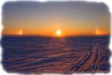 Sun Dogs At Sunset
