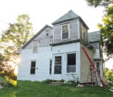 front and east side during first summer's work - 2010