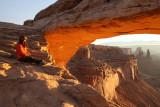 At Mesa Arch