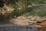 Wood bridge over Nam Khan