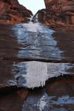 Ice Cascade at Riverside Walk