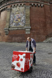 Castle district, ice cream seller