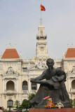 Ho Chi Minh, Hotel de Ville and statue of Uncle Ho