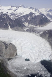 Flight over Petersburg area, glacier
