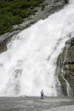 Waterfall at Mendenhall Glacier near Juneau