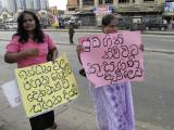Colombo, women demonstration