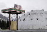Closed Igloo petrol station and hotel