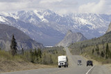 The road near Matanuska Glacier