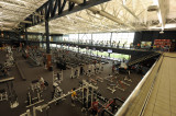 THE FITNESS CLUB IS DIVIDED INTO DISTINCT AREAS.  THE WEIGHT TRAINING AREA IS IN THE LOWER RIGHT