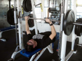 WEIGHT TRAINING IS VERY POPULAR WITH THE GUYS
