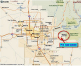 WE SPENT A MONTH IN APACHE JUNCTION 20 MILES EAST OF DOWNTOWN PHOENIX