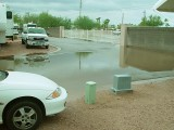 WE HAD A WATER FRONT SITE FOR PART OF THE FIRST WEEK-RECORD RAINS