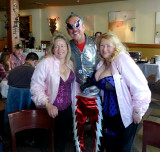 Kathleen, Bill, & Linda at KOE Lundi Gras Party