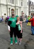 Green Lantern & Barbara on Fat Tuesday
