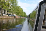 Canal bus under way