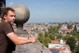 Wayne atop Westerkerk