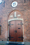 Begijnhof courtyard church entrance