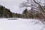 Flambeau River, WI under snow