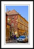 looking down a street as we walked to Wawel Castle...