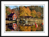 Little red house reflections...