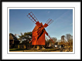 red windmill...
