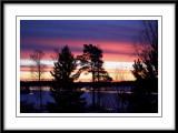 a colorful winter sunrise....
