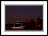 better view of the boat with fabulous masts...