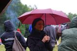 Portrait under umbrella