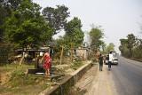 Shower on the road Kathmandu Pokhara